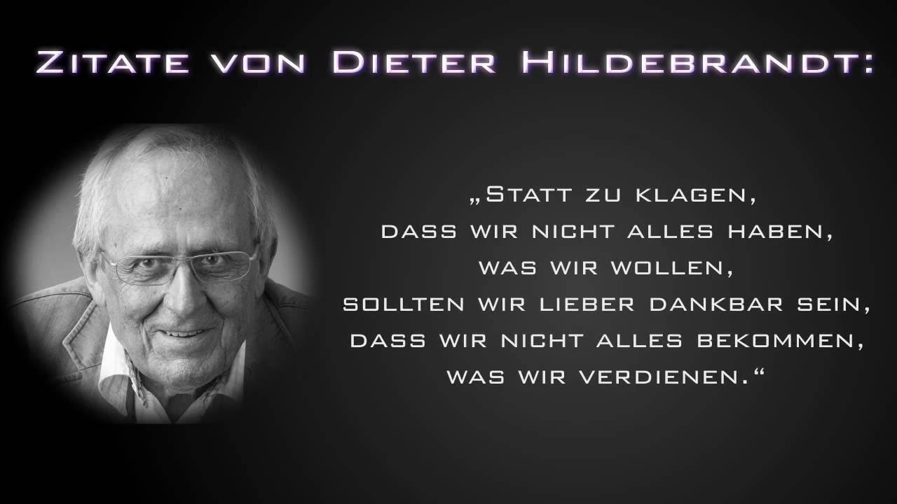 Zitate Von Dieter Hildebrandt Youtube