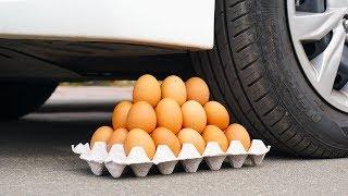 Crushing Crunchy & Soft Things by Car! EXPERIENCE: EGGS, APPLE, SUGAR VS CAR