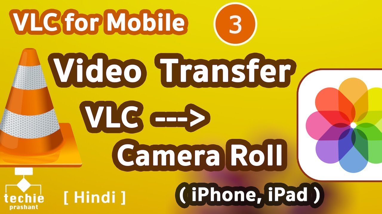 Transfer Video from VLC Media Player to Camera Roll - iPhone, iPad HINDI |  Techie Prashant