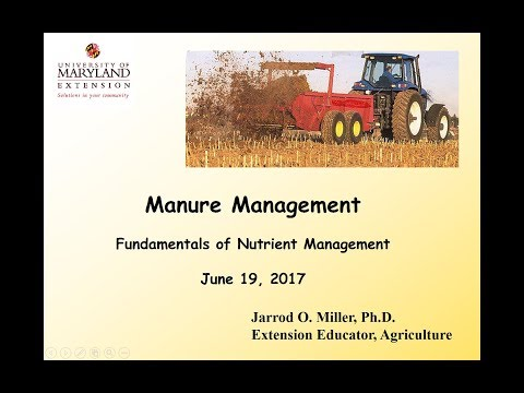 Manure Management - Fundamentals of Nutrient Management 2017