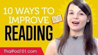 10 Ways to Practice Your Thai Reading