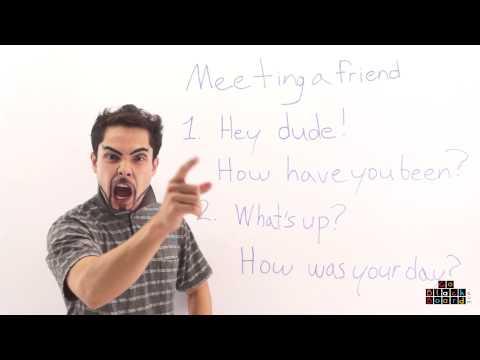 วิธีการทักทายเพื่อนเป็นภาษาอังกฤษ #1