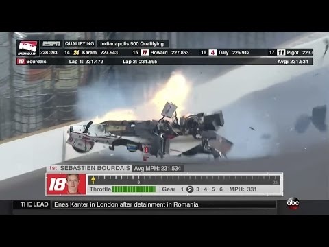 Bourdais Massive Accident In Qualifying | Indianapolis 2017