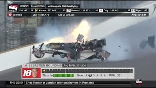 Bourdais Massive Accident In Qualifying | Indianapolis 2017