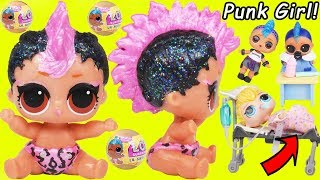 Lil Punk Girl Custom Sister as New Baby Boi at School + Pharaoh Babe Unicorn LOL Surprise Dolls thumbnail