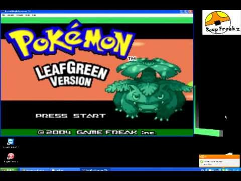 Pokemon leaf green version (v1. 1) rom gameboy advance (gba.