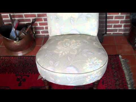 Mahogany button back nursing chair from Vintage Farmhouse Antiques
