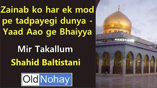 Zainab ko har ek mod pe tadpayegi dunya - Yaad Aao ge Bhaiyya