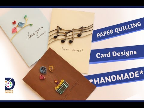"Simple ""PAPER QUILLING"" card design ideas*handmade*"
