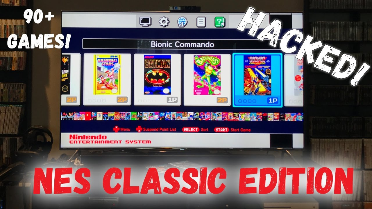 nes classic edition hacked which 60 games did i add