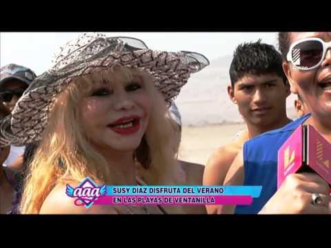 Susy Díaz disfruta del sol y el verano en las playas de Ventanilla