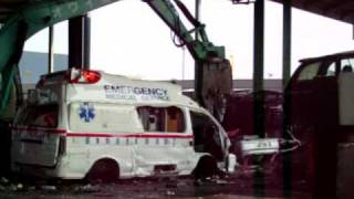 japanese  auto scrap yard wrecking toyota hiace ambulance
