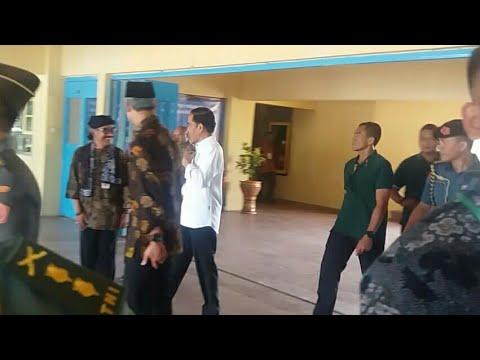 Detik-detik Presiden Jokowi sampai di Slawi Kab. Tegal, 15 Januari 2018