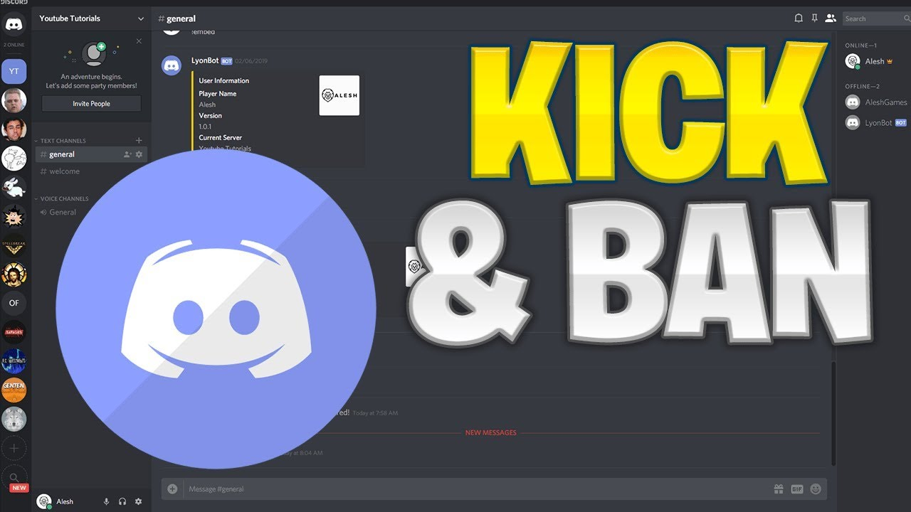 Make Your Own Discord Bot   Kick & Ban Commands (2019)