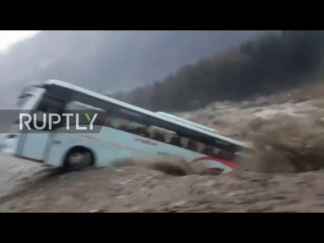 India: Rising waters wash away vehicles as floods continue in North India