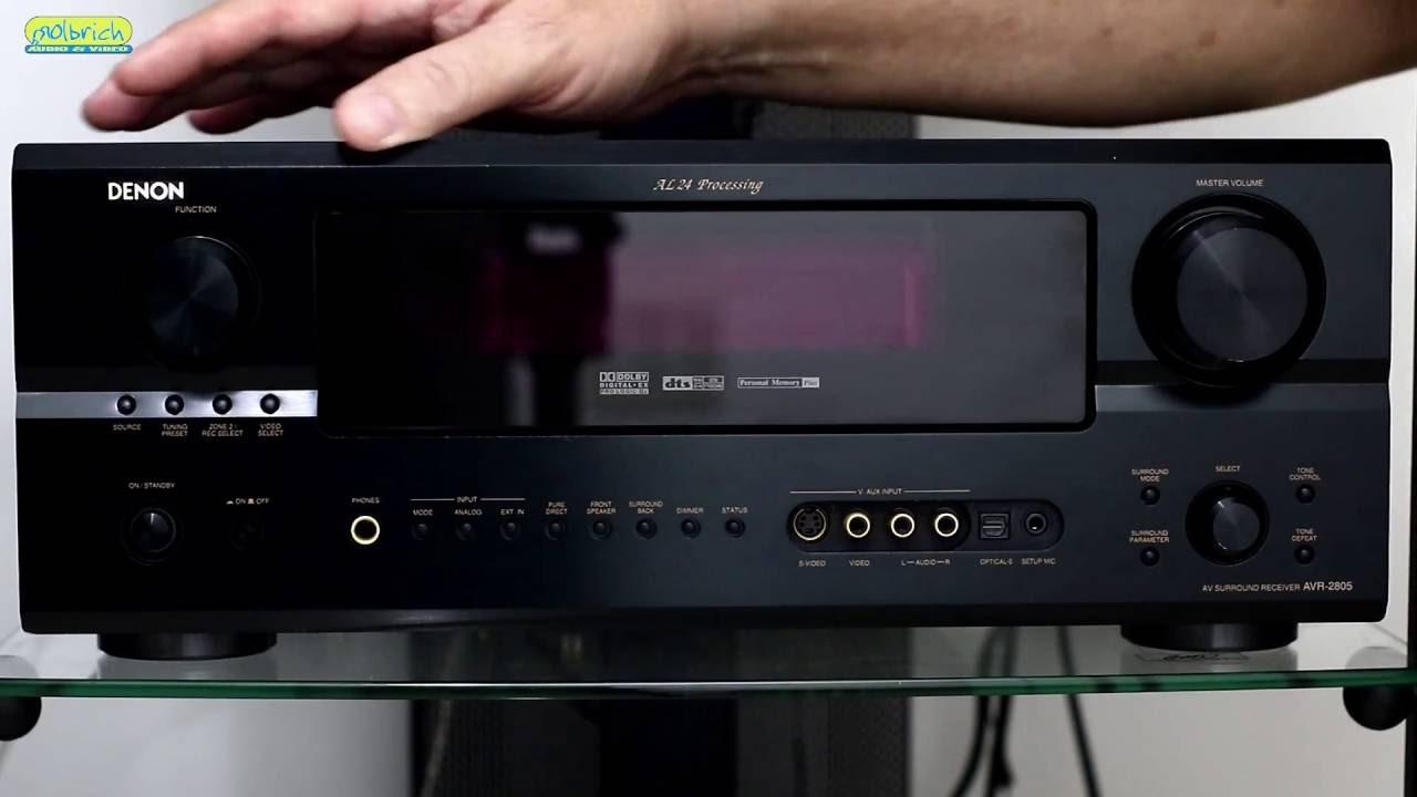 Receiver Denon Avr 2805 7 1 Dts Stereo para Toca Disco