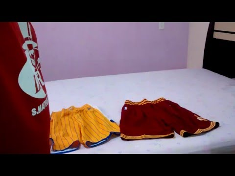 d91adf04 Shorts Nba Cleveland E Golden State - Unboxing Aliexpress - YT
