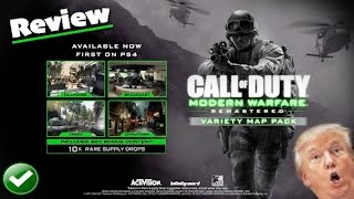 Call Of Duty: Modern Warfare Remastered VARIETY DLC MAP PACK Review! 4 MP Maps + 10 Supply Drops!?