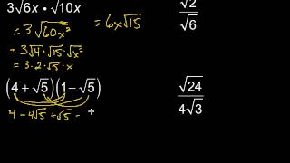 Multiplying & Dividing Radİcal Expressions