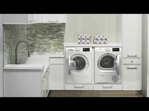 Bosch Front Load Compact Stacked Laundry Pair With Wat28401uc Washer Wtg86401uc Electric Dryer