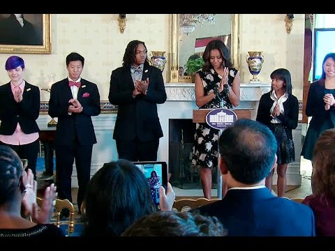 First Lady Michelle Obama Honors the 2015 Class of the National Student Poets Program