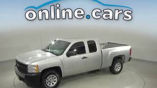 C10699NC Used 2011 Chevrolet Silverado 1500 Work Truck RWD Standard Bed Silver Review, For Sale