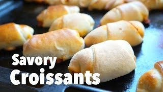Thanksgiving Recipes: Savory Croissants Minis Easy Delicious Appetizers