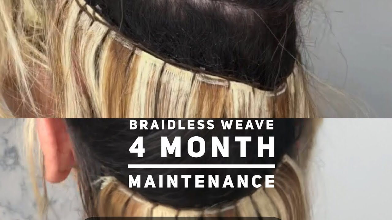 Braidless Extensions Maintiance Blonde Weave House Of Hair Uk