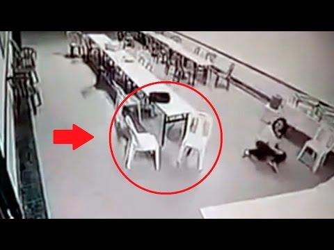 Призраки снятые на камеру. Девушка упала в обморок