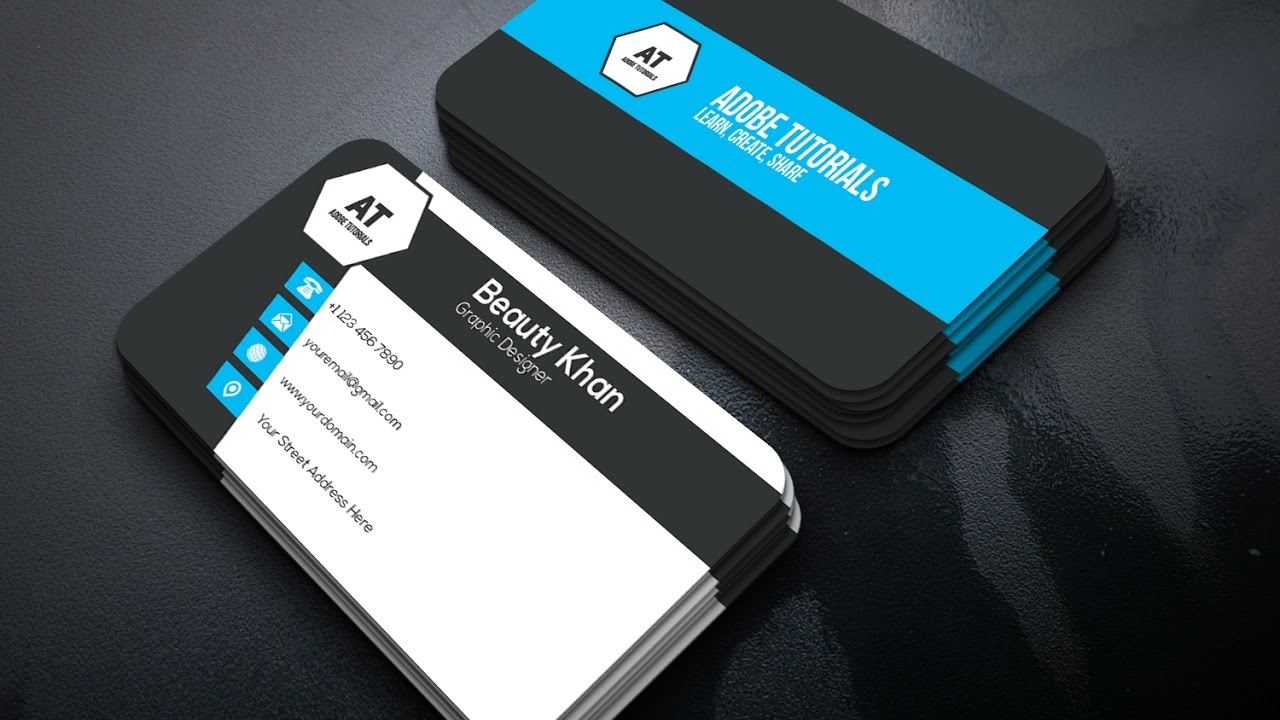 Clean Corporate Business Card Design Adobe Illustrator Cc Tutorial