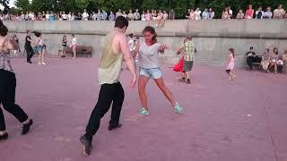 Румба - Open air - Бальные танцы в Парке Горького, Москва, август 2018