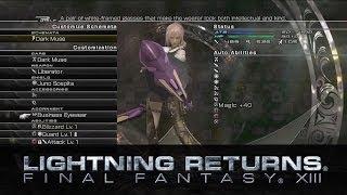 Shops and Customisation -- LIGHTNING RETURNS: FINAL FANTASY XIII