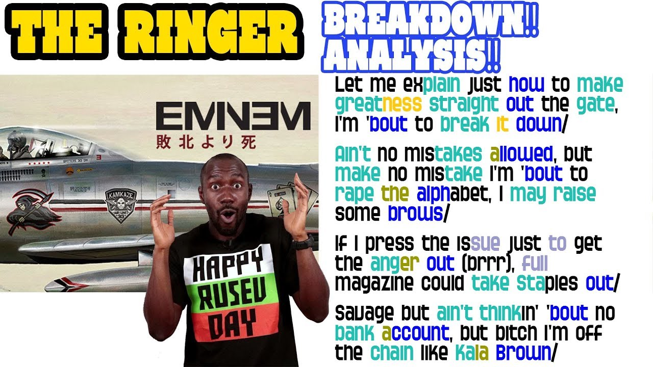 Eminem - The Ringer: Lyrics/Rhymes BREAKDOWN! ANALYSIS! and REACTION