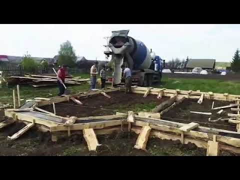 Строительство фундамента в Иглино часть 1
