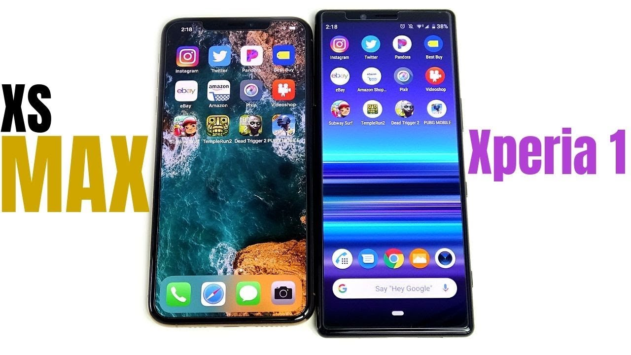 iPhone XS Max vs Xperia 1 Speed Test!
