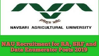 Image result for NAU Recruitment for RA, SRF & Data Enumerator Posts 2019