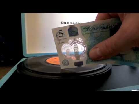 """New Five Pound Note Playing a 7"""" Vinyl Single"""