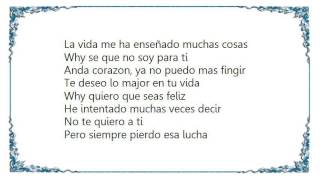Gloria Estefan - Solo Por Tu Amor Lyrics