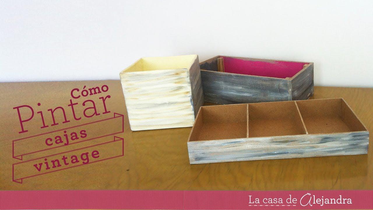 Pintar cajas vintage diy paint boxes vintage style youtube - Como decorar cajas de madera paso a paso ...