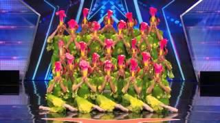 Jasmine Flower Group  Ballet Team Combines Styles for Pretty Fan Dance   America's Got Talent 2014