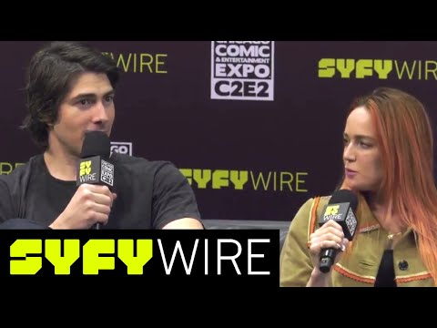 DC's Legends Of Tomorrow's Brandon Routh, Caity Lotz, Dominic Purcell  C2E2  SYFY WIRE