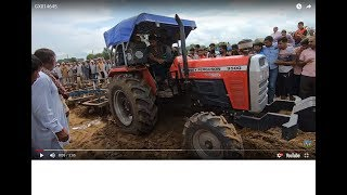 Massey 9500 tractor performance with 2 8X8 Harrow competition in Jhinjar