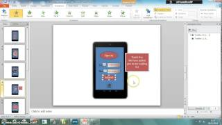Using multiple animations in PPT