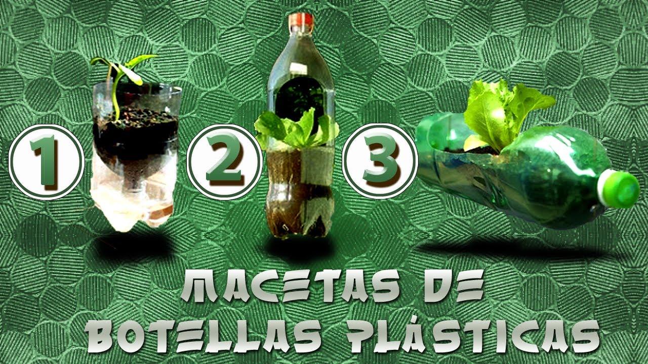 como hacer macetas en botellas plasticas