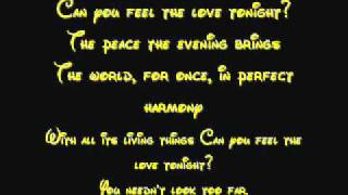 Can You Feel The Love Tonight   Lion King Lyrics