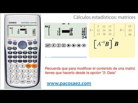 Calculadoras CASIO: cálculos con matrices