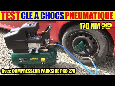 Parkside Compresseur Lidl Pko 270 + Clé à Chocs Parkside Pneumatique Démonter  Pneu De Voiture