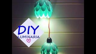 Como Fazer uma luminária feita de colheres de plástico