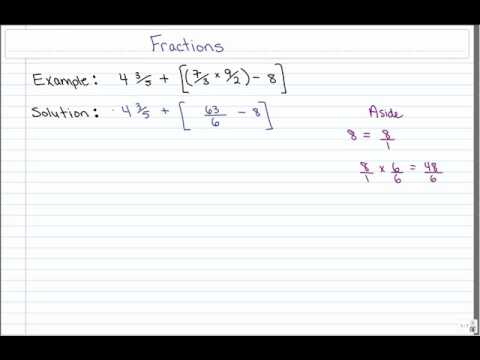 Bedmas With Fractions Flv