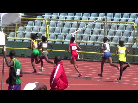 Jamaica edges Guyana in 800m finals girls open at CUT Games 2014